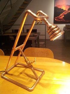 DIY Lampe de bureau tube de cuivre (copper lamp)