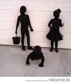 Last minute Halloween costume idea: Shadows In The Dark Costume.  The parenting mobile app that makes sharing a snap. http://kidfolio.alt12.com/