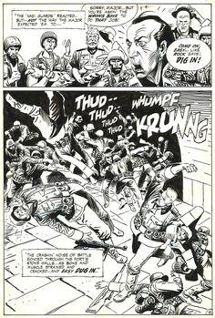 Our Army at War # 222 p.13 . par Joe Kubert - Planche originale