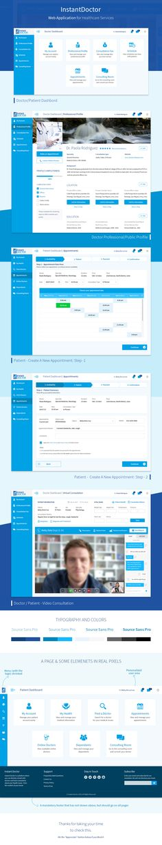 This is a full Web Application design for a Healthcare Appointment service located in Lima, Peru.
