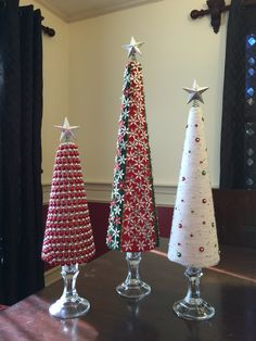 DIY foam Christmas tree with stand.