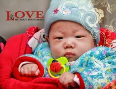 """Inside text: """"A donation has been made in your name to LWB's Healing Homes Program. This donation will help provide the gifts of nurture and healing to orphaned children in China born with serious medical needs."""""""