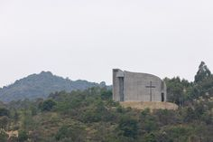 O studio architects curving church of seed in china - designboom | architecture