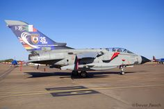 https://flic.kr/p/wRifBS | Italy AF Tornado IDS | Tri National Tornado Training Establishment Tornado from Italy at RIAT 2015, 35 years anniversary scheme