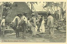 Fish market in Guam in the 1920s Big Fish, Guam, Vacation, America, Island, Places, History, 1920s, Roots
