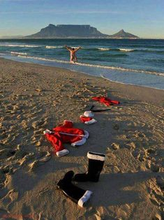 Apparently Father Christmas was spotted in Cape Town this morning