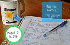"""Darcie's Dishes: Meal Plan Monday: 8/10-8/16/15 // A complete one week meal plan that is Trim Healthy Mama compatible. The meal plan includes a printable shopping list and contains very limited """"special"""" ingredients."""