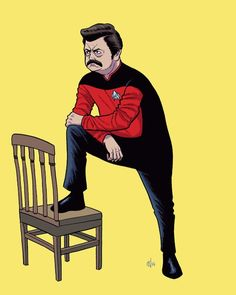 #lol. Yes!!!! Favorite #parksandrecreation character. :') #startrek #scifi #geek
