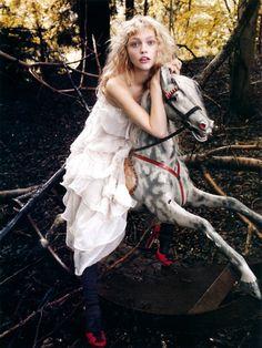 Sasha Pivovarova by Mario Testino for Vogue UK