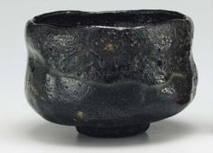 ICHINYU (1640-1696) 4th-generation raku master. Black chawan