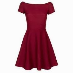 Primark wine red skater dress