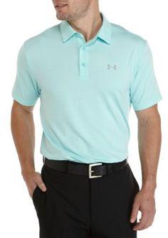Under Armour Men's Playoff Short Sleeve Polo Shirt - Blue/Gray - 2Xl