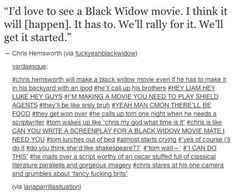 Everyone wants it to happen and it will be the greatest. | Excuse You Marvel, Where Is Our Black Widow Movie?