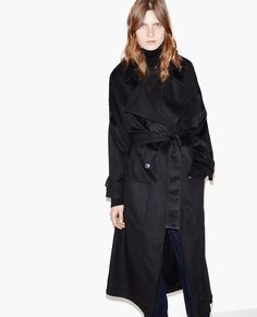 Oversize trench coat-style wool coat - Coats and Short Jackets - The Kooples