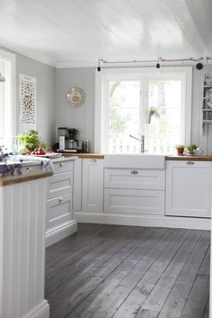 kitchen with grey floors - Google Search