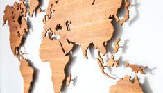MyWorld© is een houten wandkaart van de wereld, ontworpen door DailyLiving atelier en leverbaar in diverse houtsoorten.