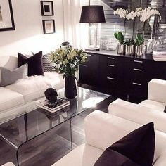 Luxurious Black and White Living Room Ideas A number of the most well-known tendencies in interior design at this moment, is using 2 ends of this spectrum . Read Luxurious Black and White Living Room Ideas - Luxurious Black and White Living Room Ideas Small Apartment Living, Small Living Rooms, New Living Room, Living Room Furniture, Modern Living, Small Apartments, Rustic Furniture, Antique Furniture, Furniture Ideas