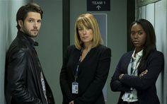 Damien Molony, Fay Ripley and Clare-Hope Ashitey in Channel 5's 'Suspect'