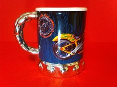 ORANGE COUNTY CHOPPERS MUG COFFEE CUP MOTORCYCLE DESIGN COLLECTIBLE CERAMIC 2004
