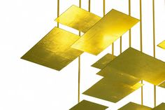 lighting (2013) - LED system lamp - gold leaf geometries designed for Smalzi - Firenze