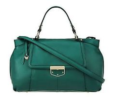Carry your pop of #Emerald with this gorgeous satchel. #ColoroftheYear