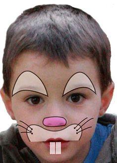 Kinder schminken: Hase