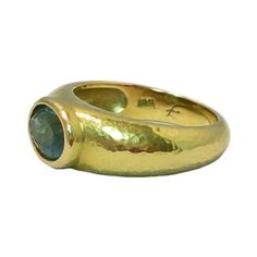 $2850  Elizabeth-Locke-19K-Gold-Blue-Tourmaline-Ring