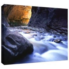 'Wirgin Narrows' by Dean Uhlinger Photographic Print Gallery-Wrapped on Canvas