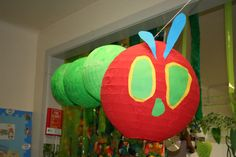 The Very Hungry Caterpillar classroom display photo - Photo gallery - SparkleBox Eyfs Classroom, Classroom Crafts, Classroom Displays, Classroom Themes, Hungry Caterpillar Classroom, Very Hungry Caterpillar, Children's Book Week, Lantern Craft, Class Decoration