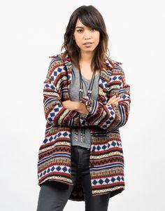 Oversized Aztec Printed Jacket