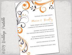 Printable Wedding invitation templates by diyweddingsprintable, $8.00