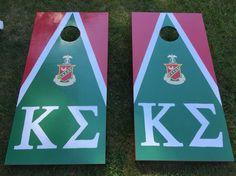 Kappa sigma fraternity cornhole boards