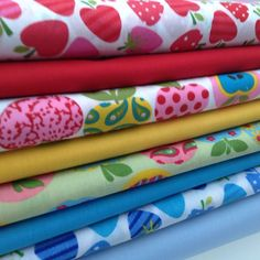 Poly Cotton Fabrics, Red, Green, Blue, Yellow, Florals, Dots, Spots, Children s Blue Yellow, Red Green, Florals, Cotton Fabric, Fabrics, Dots, Sewing, Children, Floral