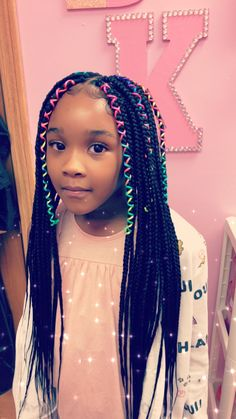 braids by keisha kids box braids - Box Braids Hairstyles Braided Hairstyles Updo, Box Braids Hairstyles For Black Women, African Braids Hairstyles, My Hairstyle, Little Girl Hairstyles, African Box Braids, Natural Kids Hairstyles, Cornrows Updo, Teenage Hairstyles