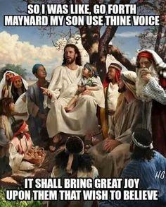 Maynard James Keenan's Voice #jesus #jesuschrist #jesusmeme #maynardsvoice #maynardjameskeenan #maynard #singingvoice #greatjoy #tool #toolband #toolbandmemes