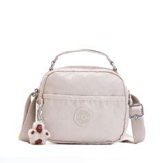 Aviva Coated Crossbody Bag - Lacquer Agate Grey | Kipling