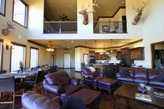 A grande room to relax in. Custom Residence at Lake Alan Henry #johnjohnsoncustomhomes #lakealanhenry