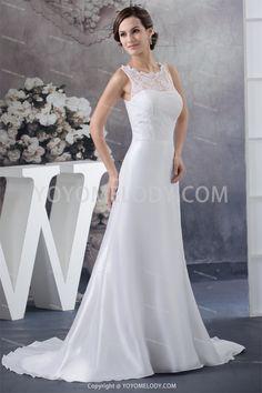 Lace High Neck Puddle Train A-Line Wedding Dress WD0100927