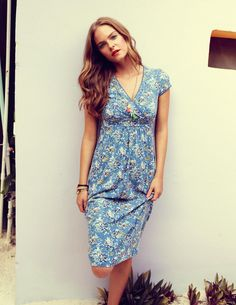 Casual Jersey Dress WH492 Knee Length Dresses at Boden