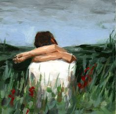 Reserved for Grace and Jonathan's registry . Embrace . large art print of couple in love painting. $45.00, via Etsy.