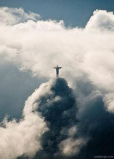 Christ the Redeemer sky clouds jesus statue
