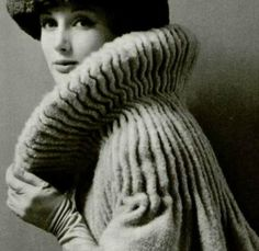 Couture Allure Vintage Fashion - Gorgeous heavy wool coat by Pierre Cardin 1958