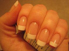 Using nail tips (Incoco brand) with gelish or shellac for a french manicure