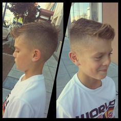 Faux hawk boys hairstyle - just in time for his soccer game this weekend! Courtesy of Uptown Barbershop,  Bremerton,  WA.
