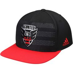 Men s D.C. United adidas Black Authentic Team Snapback Adjustable Hat 30fcbd2207a