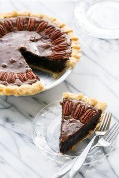Chocolate Fudge Pecan Pie   Love and Olive Oil