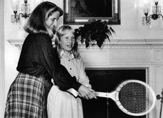 Tracy Austin and Amy Carter