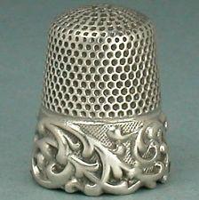 Старинный Louis XV группа из чистого серебра наперсток Ketcham & Макдугал * C1890s