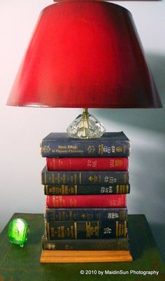 of course with a red lamp shade!