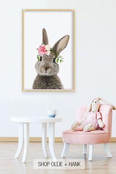 New nursery art girl woodland creatures ideas Bunny Room, Bunny Nursery, Baby Animal Nursery, Baby Girl Nursery Themes, Nursery Art, Nursery Ideas, Baby Animals, Nursery Decor, Room Ideas